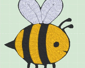 INSTANT DOWNLOAD Embroidery Design Downloads Bumble Bee Yellow Bee