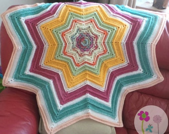 Star Baby Blanket Baby Playmat Throw ~ Sherbet Fizz
