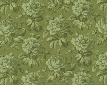 RJR Fabrics Robyn Pandolph Incarnadine 1997 03 Green Tonal Floral Yardage