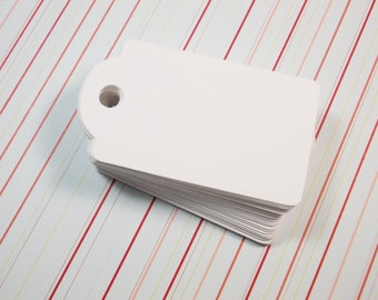 "White Blank Gift Tags, Favor Hang Tags, All Occasion, 1.5"" x 2.75"" Set of 50"