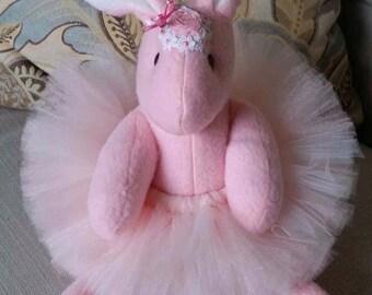 Pink Bunny with tutu & bonnet