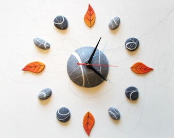 Oversized wall Clock Adhesive 3D wall sticker clocks Nature decor Personalized gift Natural decor
