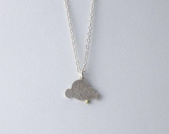 30% OFF Handmade Hammered Silver Cloud Pendant