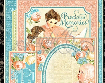 Graphic 45 Precious Memories Collection Ephemera Cards