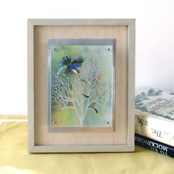 Spring Tree Wall Decor : Items similar to spring tree float frame paper cut wall