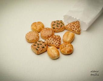 Miniature bread bread bread pastries Dollhouse miniature kitchen food dessert Blythe Barbie Momoko