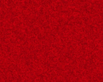 Red Solid Textured Fabric - Quilting Treasures QT Basics Color Blend - 23528 R - 1/2 yard