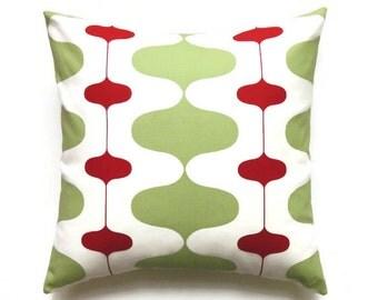 Christmas Pillow, 18x18 Pillow Cover, Accent Pillow, Decorative Pillows, Holiday Pillow, Cushion Cover, Ivon Kiwi Lipstick
