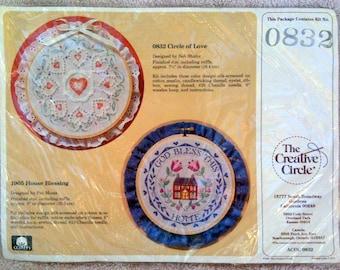 Creative Circle Circle of Love Candlewicking Embroidery Kit New Bob Shafor b22