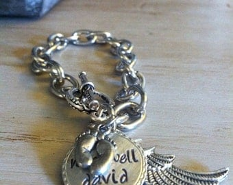 Baby Memorial Jewelry - Personalized Memorial Bracelet - Miscarriage Baby Memorial Jewelry - Miscarriage Remembrance