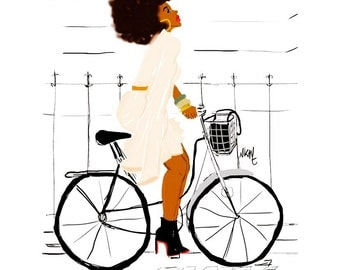 Black girl ride Bike with class