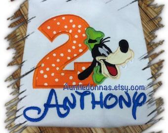 Goofy Birthday shirt any age Appliqué custom Name age