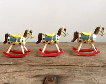 Vintage Rocking Horse Cake Toppers