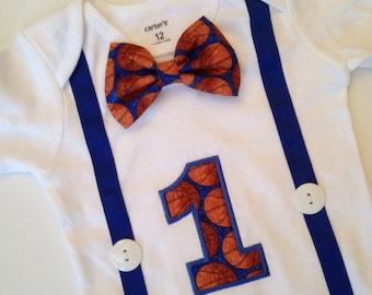 Basketball First Birthday Bodysuit, Boys 1st Birthday, Basketball Birthday Outfit, Basketball Birthday Shirt