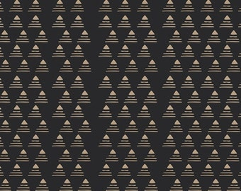Art Gallery Jersey Knit Fabric, Modern Fabric, Gramercy by Leah Duncan, Commute by Limo, Black and Gold Knit Fabric, Art Gallery Fabrics,
