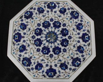 Marble Coffee Tables Antique Art Of Pietra Dura / Stone Inlay Mosaic  Furniture / Scagliola Tables