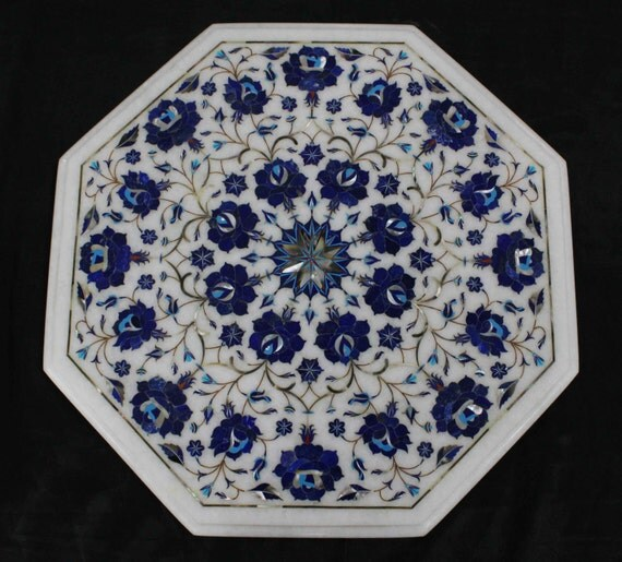 Marquetry Marble Coffee Table: Marble Coffee Tables Antique Art Of Pietra Dura / Stone Inlay