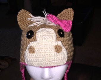 Pony hat with or without bow