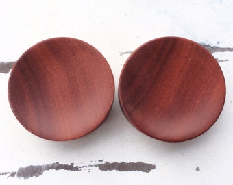"BIG Concave Saba Wood Plugs 9/16"" 5/8"" 3/4"" 7/8"" 15/16"" One Inch (26mm) 1 1/8"" (28mm) 1 3/16"" (30mm)"