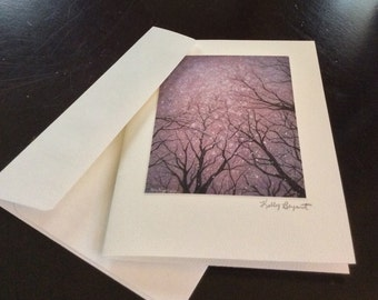 Fine art greeting card, blank with matching envelope