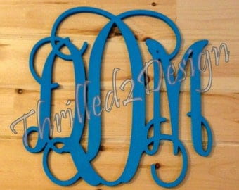 PAINTED Vine Wooden Monogram - Wedding, Nursery, Home