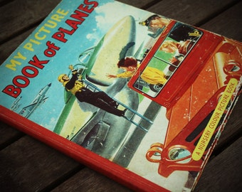 Childrens Picture Book Aviation illustrated 60s airplane young person book Vintage Gift