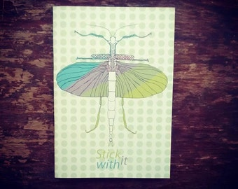 A5 Insect Illustrated Notebook (printed on 100% recycled paper)