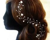 Crystal Hair Vine Bridal Hair VineBridal Headpiece Wedding Hair Vine Hand Made Hair Accessories Swarovski Pearls Crystals Diamante