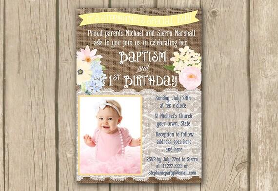 Birthday Baptism Invitation Wording Images Invitation Templates