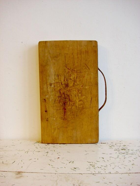 Antik Holz Schneidebrett Butcher Block / von OldMoscowGallery