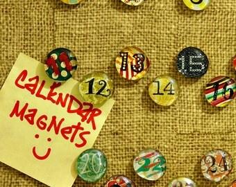 Calendar Magnet Set, Gem Magnets, Bubble Magnets, Refrigerator Magnet Set, Fridge Magnets, Coworker Friend Gift, Stocking Stuffer, Organizer