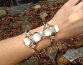 Selenite Warrior Cuff
