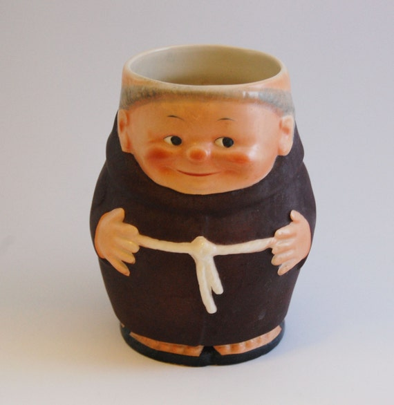 Goebel 1950s Friar Tuck Ceramic Mug, West Germany