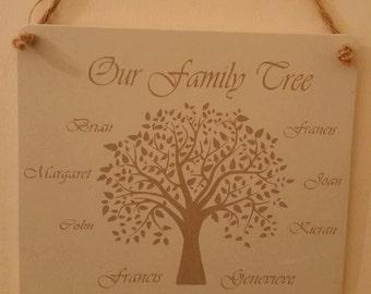 Family Tree plaques