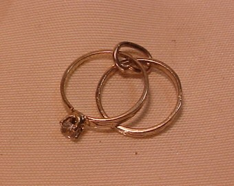 10k Wedding Set in 10k yellow gold-charm/pendant-Free shipping--see details.