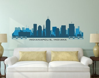 Portland oregon skyline wall decal art vinyl removable peel n for Real estate office wall decor