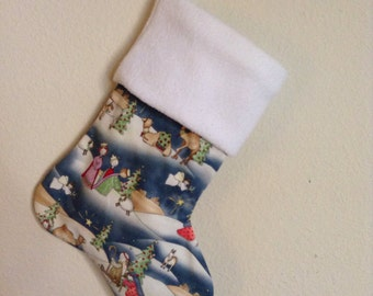 FINAL SALE - Nativity Scene Christmas Holiday Stocking