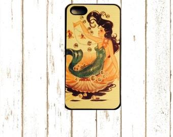 IPhone Cases, Vintage Mermaid Iphone 6 plus Case, Mermaid Iphone 5/5S Case, Mermaid Iphone 6/6S Case, Rubber IPhone 7 Cases