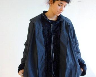 Vintage 80 's Black WINTER JACKET coat