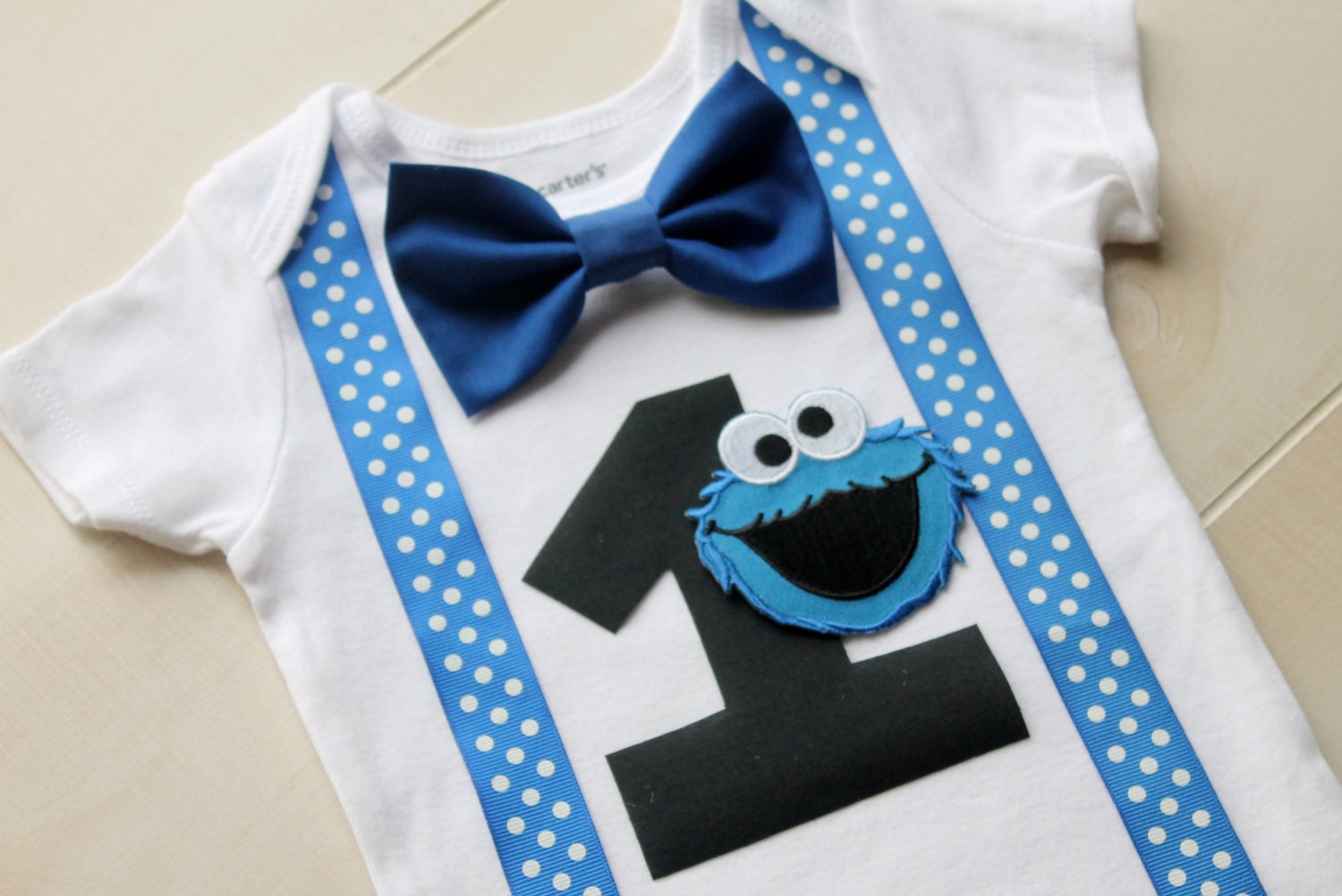 Cookie Monster Birthday Outfit Cake Smash Outfit Baby Boy