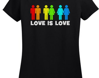 Ladies Love Is Love T Shirt
