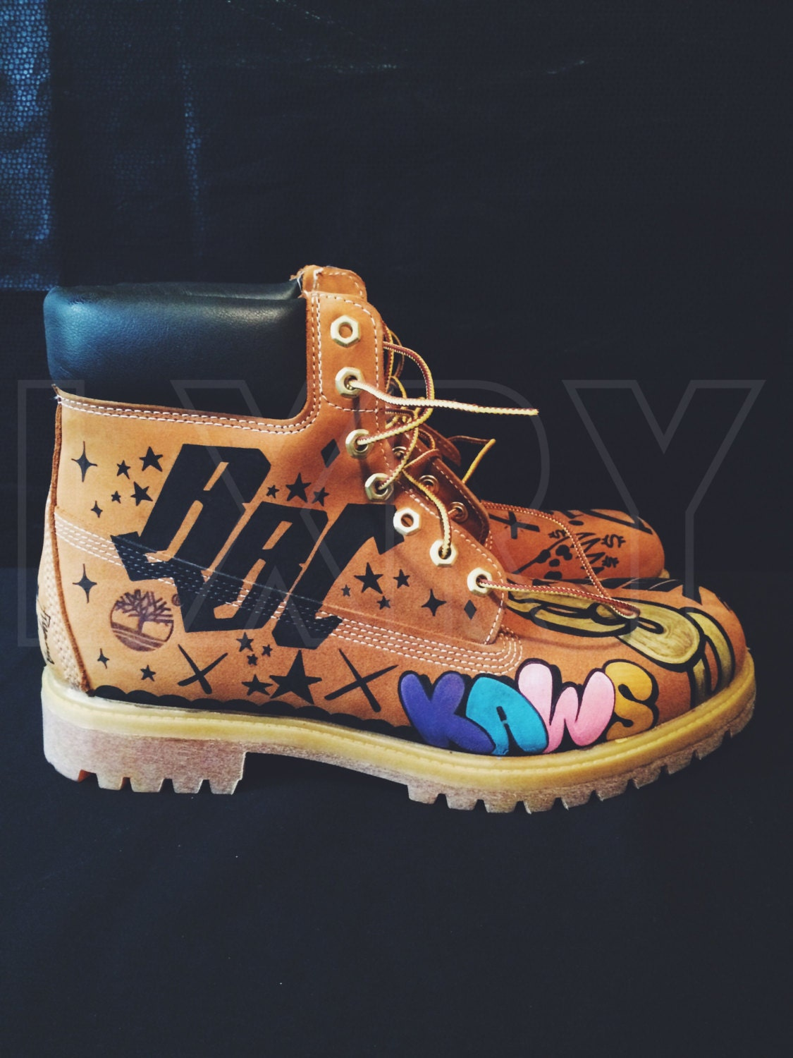 Customized Timberlands With Spikes Custom Timberland Boots