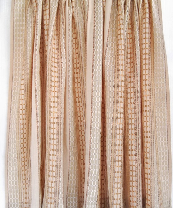 ... Weave Window Curtain Panel, Retro Window Drapes, Basket Weave Fabric