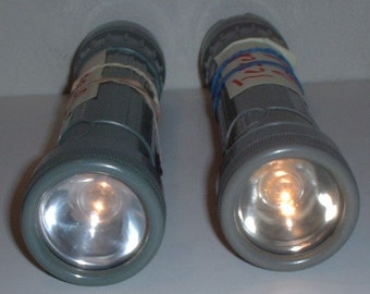 US Navy G.T. Price 2-D cell (not included) flashlight; functioning (working) circa 1960s-1980s