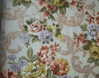 """1940s 50s Pair of Bevis Fabrics Screen Printed SCAFELL Pattern Curtains W68"""" D66"""""""