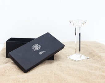 Olog Cassini Signed Cut Glass Contemporary Candlestick in Original Cast