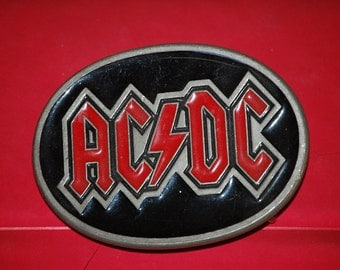 Large AC/DC Vintage Belt Buckle