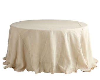 Ivory Burlap round 84'' tablecloth - 15 Available colors - wedding tablecloth