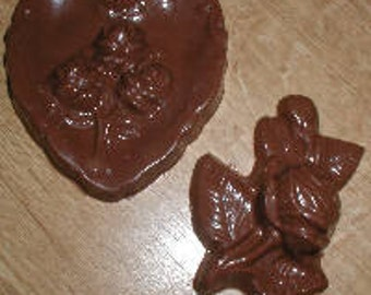 Heart And Rose Chocolate Mold