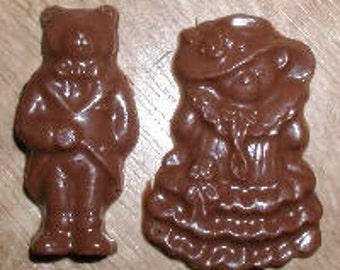 Bride & Groom Bears Bite Sized Chocolate Mold